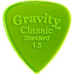 Gravity picks GCLS15P Classic Standard 1.5mm Polished Fl. Green
