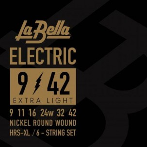 Labella HRS-XL Electric Guitar - Extra Light 9-42