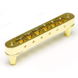 Graphtech PM-8843-G0 : ResoMax NV1 4mm Tune-O-Matic Bridge - Gold