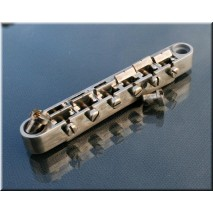 Faber Locking bridge ABRL-59NA, Nickel plated, nickel plated saddles, aged