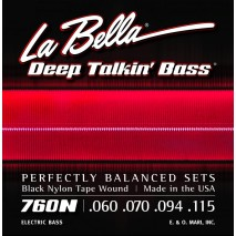 Labella 760N Deep Talkin' Bass, Black Nylon Tape – 60-115