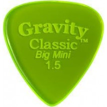 Gravity picks GCLB15P Classic Big Mini 1.5mm Polished Fl. Green