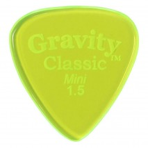 Gravity picks GCLM15P Classic Mini 1.5mm Polished Fl. Green
