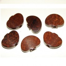 Crazyparts Snakewood Buttons for Grover Tuners Set of 6