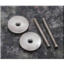 Faber ST-MNA, 4mm Metric, '59 ABR Studs/Thumbwheel Kit (pair),nickel,aged