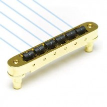 Graphtech PN-8843-G0 : Ghost Loaded ResoMax NV 4mm Tune-O-Matic Bridge - Gold