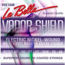 Labella VSE1046 VAPOR SHIELD ELECTRIC GUITAR STRINGS – REGULAR 10-46