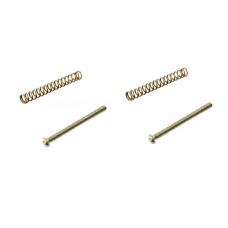 Humbucker Slot screw set of 2 nickel with springs