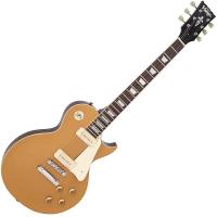 Vintage V100 ReIssued Electric Guitar ~ Gold Top