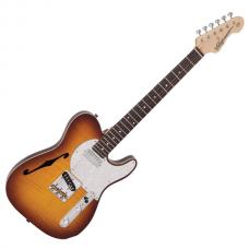Vintage V72 ReIssued Custom Spec TL Electric Guitar ~ Flame Tobacco Burst