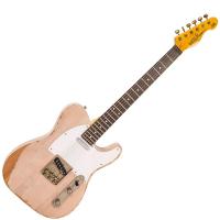 Vintage V62 ICON Electric Guitar ~ Distressed Ash Blonde