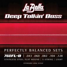 Labella 760FL-B Deep Talkin' Bass, Flat Wound, 5-String – 43-128