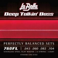Labella 760FL Deep Talkin' Bass, Flat Wound – 43-104