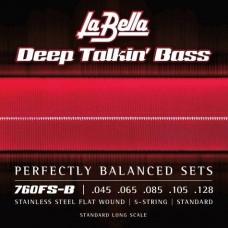 Labella 760FS-B Deep Talkin' Bass, Flat Wound, 5-String – 45-128