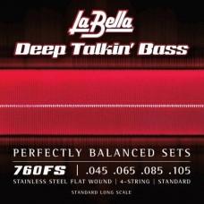 Labella 760FS Deep Talkin' Bass, Flat Wound – 45-105