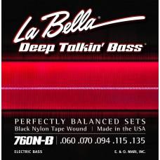 Labella 760N-B Black Nylon Tape, 5-String, Light