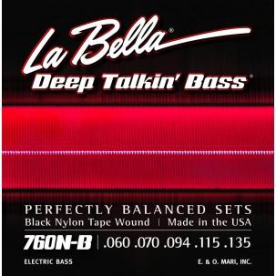 Labella 760N-B Deep Talkin' Bass, Black Nylon Tape, 5-String – 60-135