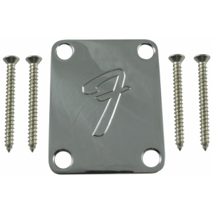 """Fender neck plate with """"F"""""""