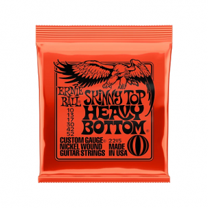 Ernie Ball Skinny Top Heavy Bottom Slinky Nickel Wound Electric Guitar Strings - 10-52 Gauge