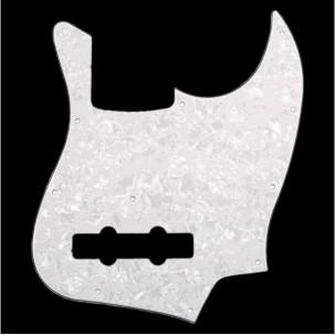 Japan Jazz Bass Pickguard white pearloid