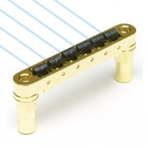 Graphtech PN-8863-G0 : Ghost Loaded ResoMax NV 6mm Tune-O-Matic Bridge - Gold