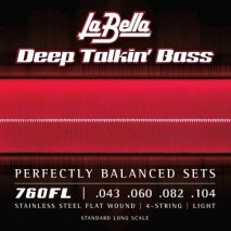 Labella 760FL Deep Talkin' Bass, Flat Wound – 43-104