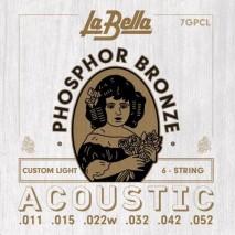 Labella 7GPCL Phosphor Bronze - Custom Light 11-52