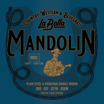 Labella 880L Mandolin, Phosphor Bronze – Light