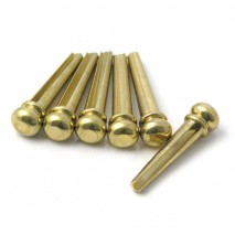 Hosco brass bridge pin set of 6