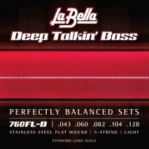 Labella 760FL-B Deep Talkin' Bass, Flat Wound, 5-String – 43-128
