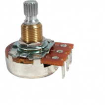 Potentiometer - Bourns, 500k Audio, Knurled Shaft Fast turning