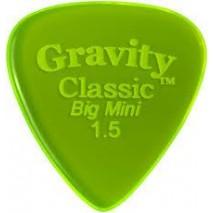 Gravity picks GCLB15P Classic Big Mini 1.5mm Polished Fl. Green