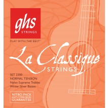 GHS SETS - LA CLASSIQUE™ - Normal Tension, Nylon Supreme Trebles/Winter Silver Basses