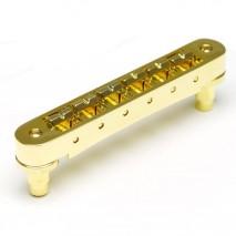 Graphtech PM-8843-G0 : ResoMax NV1 4mm Tune-O-Matic Bridge - Gold