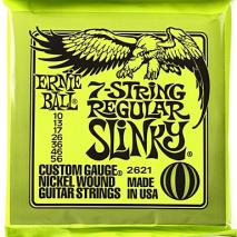 Ernie Ball Regular Slinky 7-String Nickel Wound Electric Guitar Strings - 10-56 Gauge