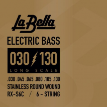 Labella RX-S6C Bass 6-string Stainless Steel Round Wound
