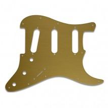WDMusic STRATOCASTER® - BRUSHED GOLD pickguard