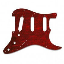 WDMusic STRATOCASTER® - TORTOISE SHELL STYLE RED (PVC) pickguard