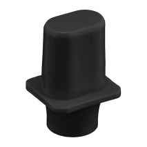 Japan Tele switch knob tophat black Inch size