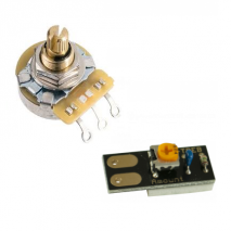 Prewired tone pot with variable cap