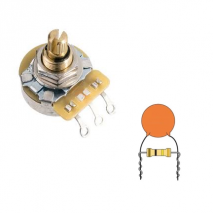 Prewired volume pot with treble bleed